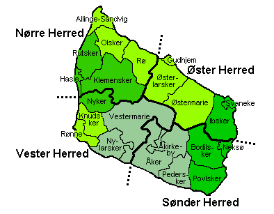 Map of Bornholms
