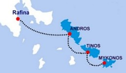 Cyclades Route Map