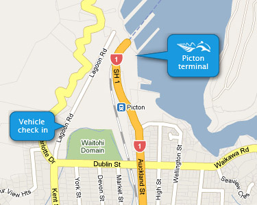 Interislander Picton Ferry Terminal Map
